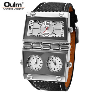 Men Dual Display Sports Watches Oulm Men Watch Big Size - SuRegaloExpress