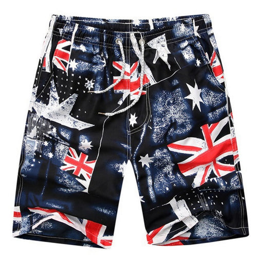 LASPERAL Brand Shorts Men Summer Fashion Print Quick Dry Beachwear Short Pants Causal Elastic Sportwear Male Shorts Plus Size - SuRegaloExpress