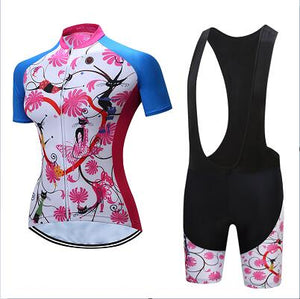 Women's cycling jerseys set 2019 ladies short pro gel pants sports wear bicycle clothes bike clothing maillot mtb dress suit kit