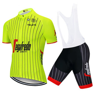 New Trekking Short Sleeve Cycling Jersey Bib Set Mountain Bike Clothing MTB Bicycle Clothes Maillot Ropa Ciclismo Sports Wear