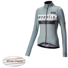 Cargar imagen en el visor de la galería, 2019 Pro Team Morvelo Bike Clothing winter thermal fleece woman Cycling jerseys MTB maillot Ropa Ciclismo Bicycle Clothes mujer - SuRegaloExpress
