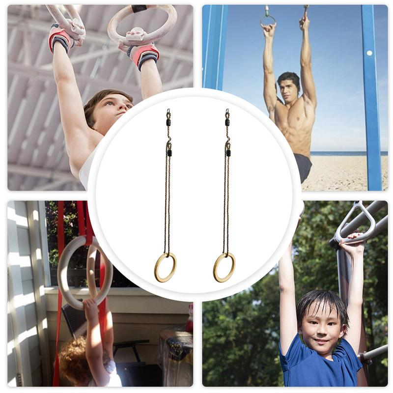 Adults Kids Fitness Sports Home Outdoor Fitness Equipment Indoor Traction Children Trapeze Trapeze Rings Flying Gym Rings Swing - SuRegaloExpress