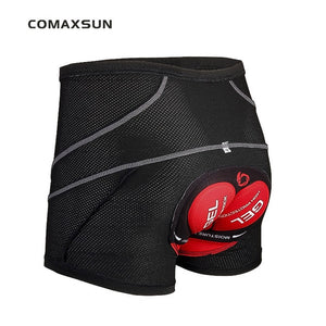 COMAXSUN Men's Cycling Underwear Bicycle Mountain MTB Shorts Riding Bike Sport Underwear Compression Tights Shorts 5D Padded - SuRegaloExpress