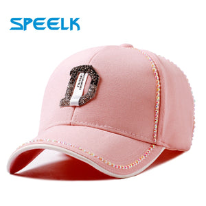 Rhinestone Baseball Caps Women Colorful
