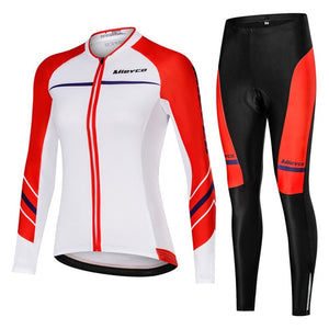 2019 Team Racing Bicycle Clothing Polyester Autumn Cycling Jersey Women Long Sleeve mtb Bike Clothes Ropa Ciclismo Set Design - SuRegaloExpress