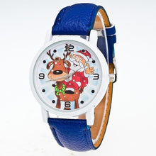 Cargar imagen en el visor de la galería, Watch 1Pcs Cartoon Santa Fashion Snowman Round Pattern Claus Elk Not Waterproof Quartz Alloy Analog Buckle Unisex