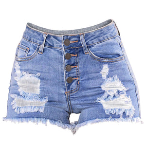 Womail Women shorts summer jeans Slim Washed Ripped Hole Short Mini Jeans Denim Sexy shorts Casual denim color dropship j23