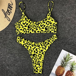 Bikini Women Swimwear Leopard Print Female - SuRegaloExpress