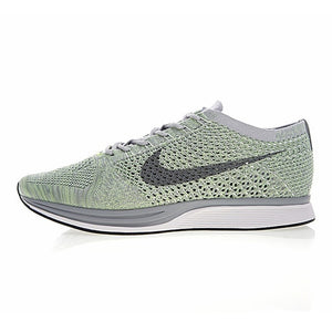 Original Authentic Nike Flyknit Racer Men's Running Shoes Mesh Breathable Outdoor Sneakers Athletic Designer Footwear 526628-012