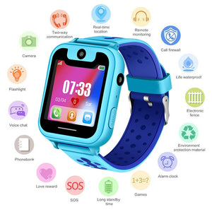 Waterproof Children smartwatch SOS Emergency Call LBS Security