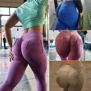 2019 New Sexy Slim Leggings with Pleated Pouch for Women Tummy Control and Running BS88 - SuRegaloExpress