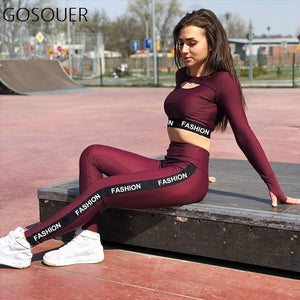 2018 New Women's Tracksuit Tights Sportswear Fitness Yoga Suit Sport Female Set Gym Workout Two Piece Jumpsuits Sport Suits - SuRegaloExpress