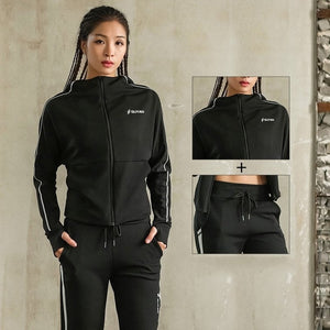 Women Tracksuit Sportswear Zip Up Jacket Hoodies+pants Sportswear Running Jogging Leisure Fitness Gym Yoga Outfit Set Sport Suit