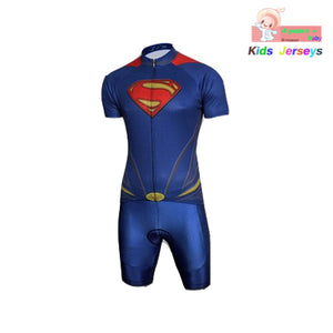 Kids Spider Man Cycling Jersey Wear Short Sleeves Cycling Set Boys Bike Clothing Ropa Ciclismo Girl Cycling Clothing Sports Suit - SuRegaloExpress