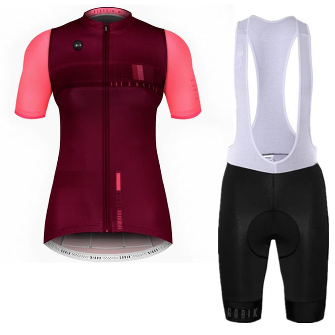 GOBIK spain Women 2019 Quick drying Cycling jersey Set Racing Bike short sleeve summer Cycling Clothing Ropa Ciclismo Mujer D2 - SuRegaloExpress