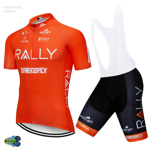 2019 Team Orange Cycling Clothing Bike Jersey Set Ropa Quick Dry Mens MTB Bicycle Summer Pro Cycling Jersey Sets Short Sleeve - SuRegaloExpress