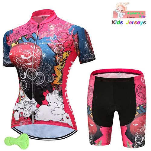 Kid's Cycling Jersey 2019 Pro Team Girls Summer Jerseys Mtb Shorts Children Road Mountain Bicycle Clothes Maillot Ropa Ciclismo - SuRegaloExpress