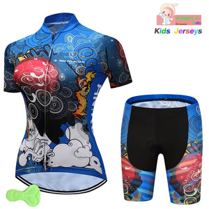 Cycling Jersey 2019 Pro Team Girls Summer Jerseys Mtb Shorts Child Road Mountain Bicycle Cycling Clothing Maillot Ropa Ciclismo - SuRegaloExpress