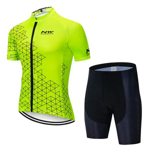 NW 2019 Summer Pro Team Men Cycling Jersey short sleeve Set Maillot bib shorts Bicycle Clothes Quick Dry Shirt Clothing Suit