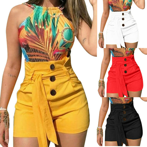 LASPERAL 2019 Summer Women Shorts Sexy Ladies High Waist Casual Buttom Bandage Beach Hot Shorts Womens Plus Size S-5XL - SuRegaloExpress