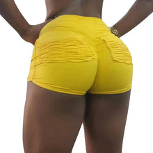 Cargar imagen en el visor de la galería, Litthing Fitness Shorts Women Fashion Sports Shorts High Waist Gym Jogging Women Shorts 2019 Summer Workout Shorts Yellow Black - SuRegaloExpress