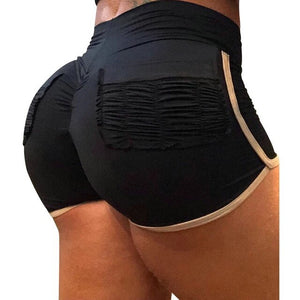 Litthing Fitness Shorts Women Fashion Sports Shorts High Waist Gym Jogging Women Shorts 2019 Summer Workout Shorts Yellow Black - SuRegaloExpress