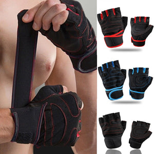 Fitness Gym Running Gloves Heavyweight Sports Exercise Weight Lifting Gloves for Body Building Training Sport Fitness Gloves - SuRegaloExpress