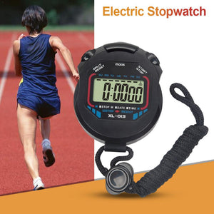 Electric Stopwatch Running Stopwatch Timer Sports Stopwatch For Running Cycling Outdoors Convenient Watch - SuRegaloExpress