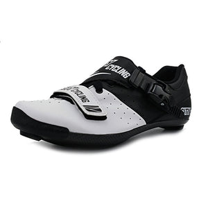 Road Cycling Shoes Heatmoldable Carbon Fiber Road Bike Shoes Self-Locking Breathable Road Bike Sneakers Bike Shoes  Ciclismo