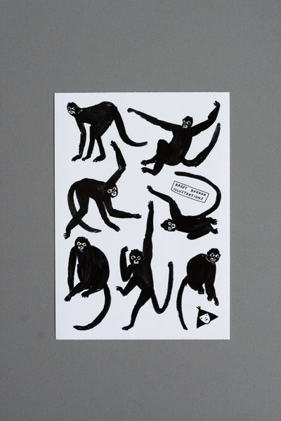 spider monkey sticker sheet