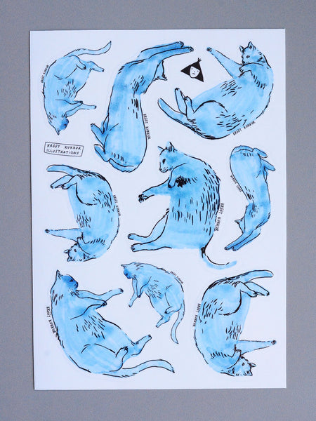lazy saturday sticker sheet A5