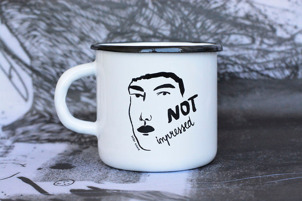 Not Impressed Enamel Mug