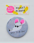 """bad rat"" riso print pocket mirror"