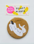 """cheeky"" riso print pocket mirror"
