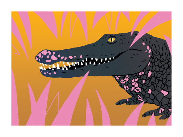 """crocodile"" on canvas"