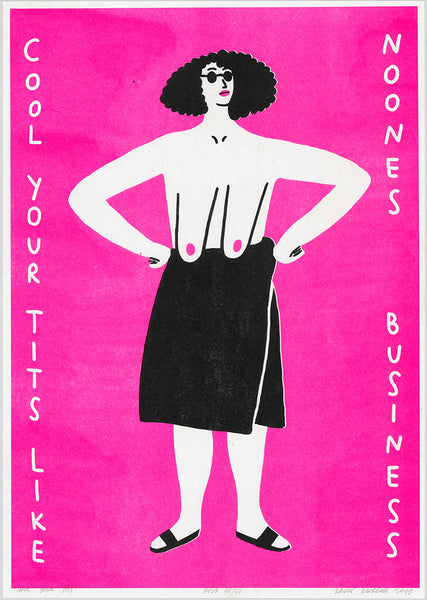 """cool your tits"" riso"