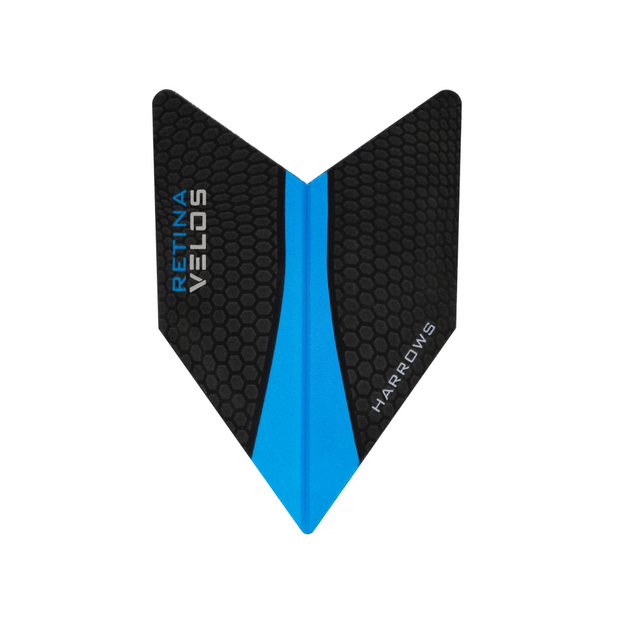 Harrows Darts Velos Retina Flights Black/Aqua | Harrows Darts | AS Pub Sports