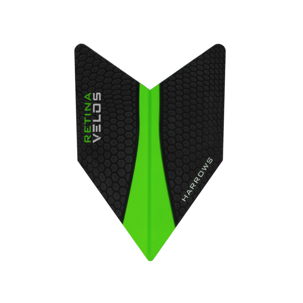 Harrows Darts Velos Retina Flights Black/Green | Harrows Darts | AS Pub Sports