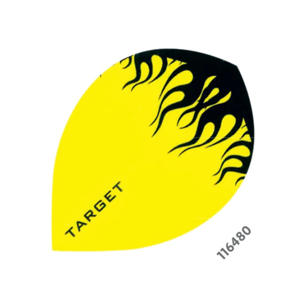 Target pro 100 flight Pear Yellow with black flame