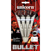 Gary Anderson Darts Bullet Style 1 Steel Tip Unicorn Darts 21g 23g and 25g