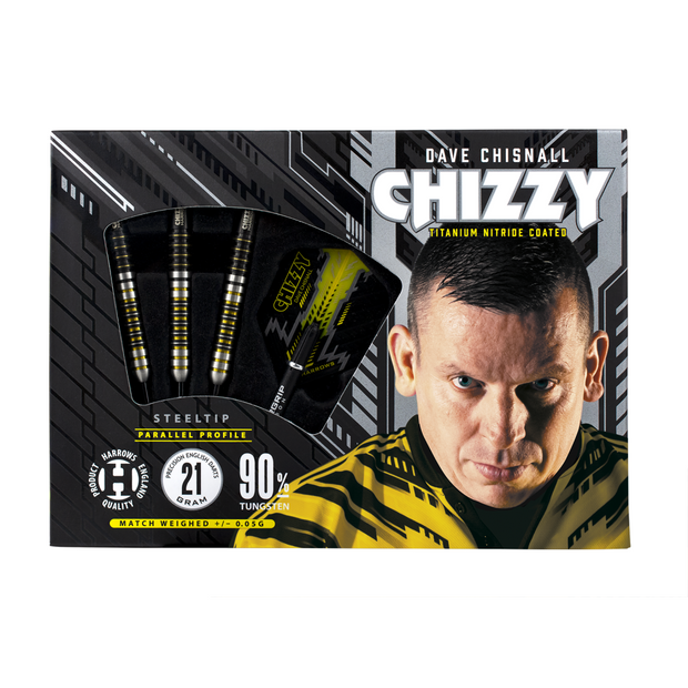 Dave Chisnall Darts Chizzy Harrows Steel Tip Darts 21 22 23 24 25 & 26g