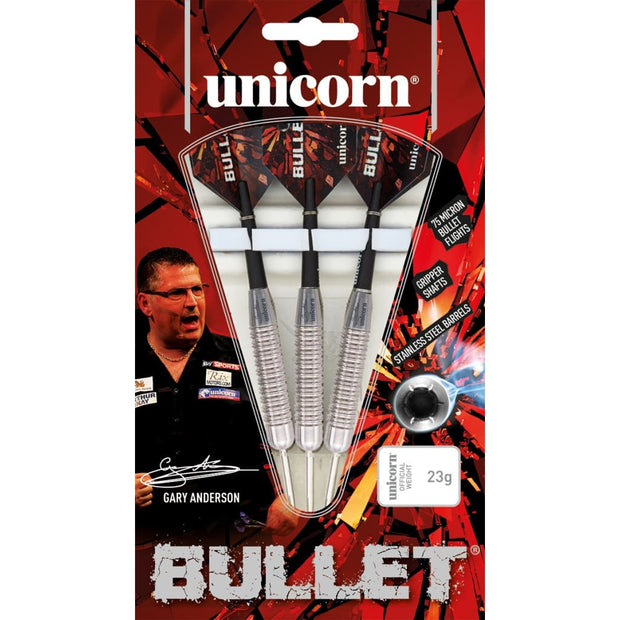 Gary Anderson Darts Bullet Style 2 Steel Tip Unicorn Darts 22g 24g and 26g