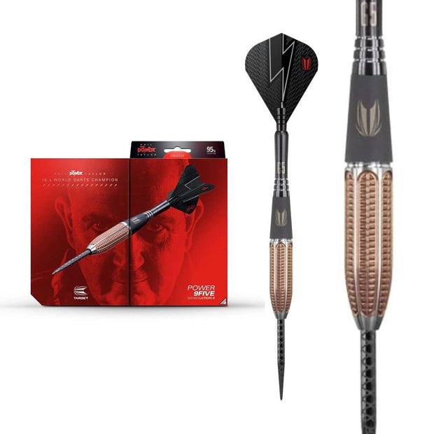 Phil Taylor Darts 9Five Gen 5 Steel Tip Target Darts 22g 24g and 26g - Darts