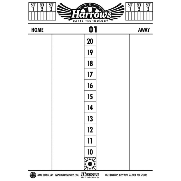 Harrows Darts Marker Board Dry Wipe | Harrows Darts | AS Pub Sports