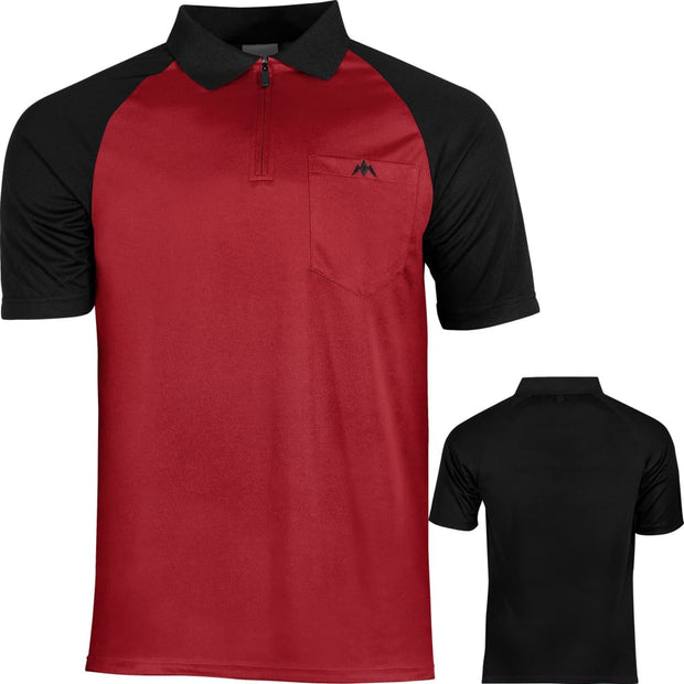EXOS Cool FX Darts Shirts Mission Darts Available in 7 designs from small to 5xl - Red & Black / Small