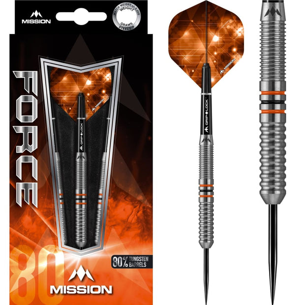 Force Darts M11 Black Orange Mission Darts 22g 24g and 26g