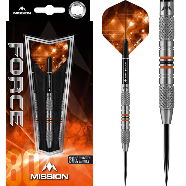 Force Darts M26 Black Orange Mission Darts 21g 23g and 25g