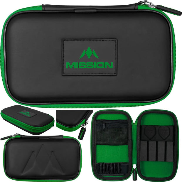 Freedom XL Case Mission Darts available in 5 colour - Black/Green
