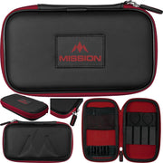 Freedom XL Case Mission Darts available in 5 colour - Black/Red