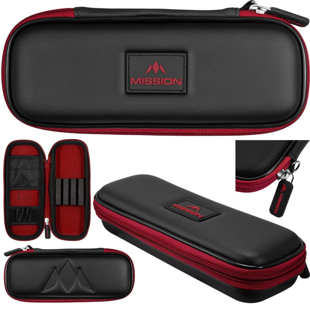Freedom Slim Case Mission Darts available in 5 colour - Black/Red